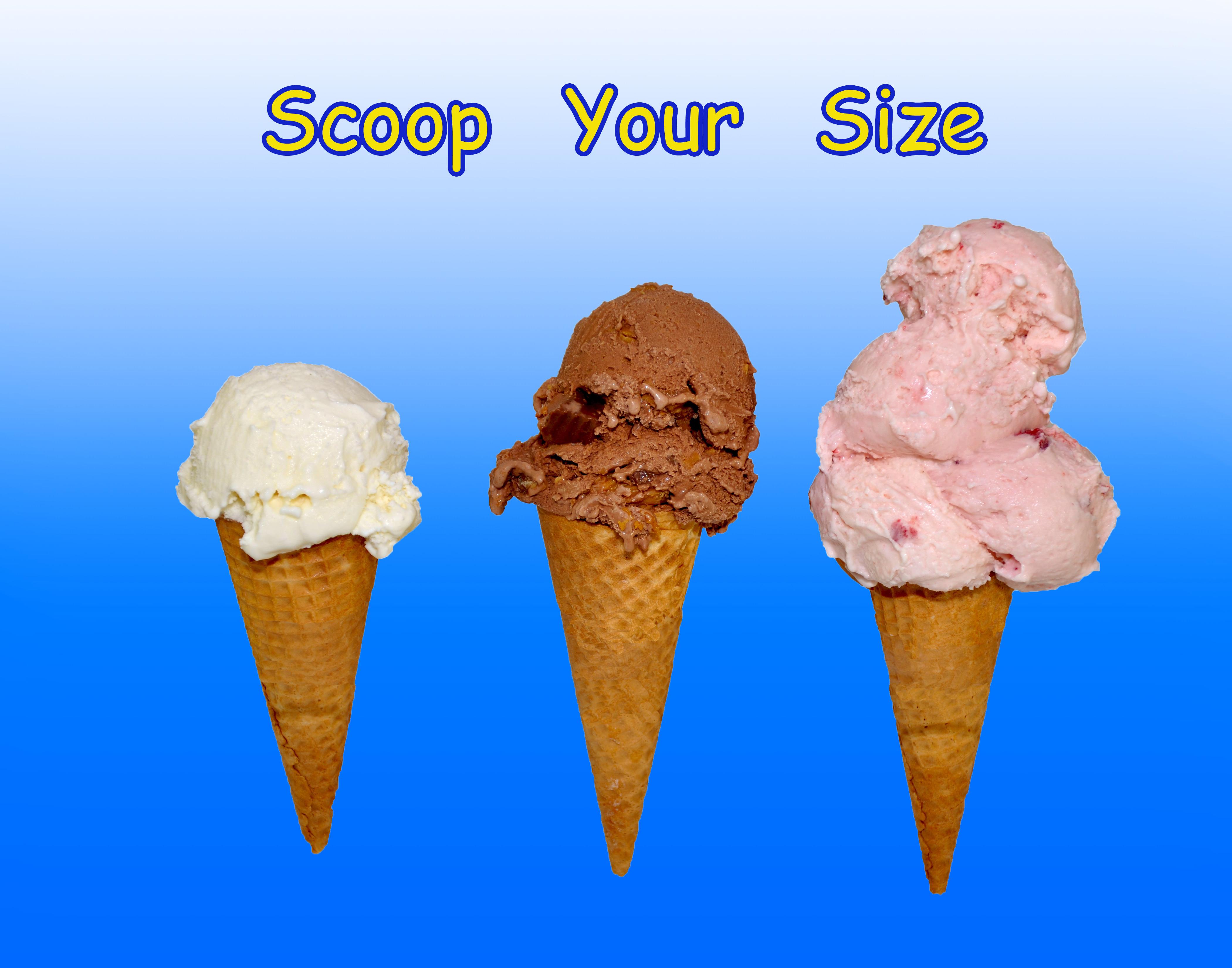 two scoops super premium ice cream our menu